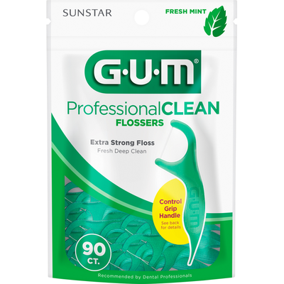 GUM Flossers, Extra Strong, Fresh Mint