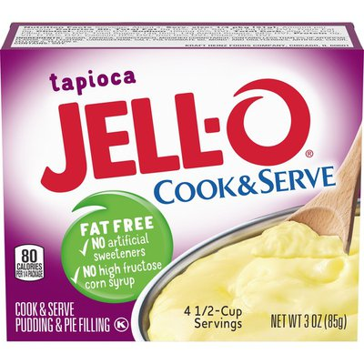 Jell-O Cook & Serve Fat Free Tapioca Pudding & Pie Filling Mix