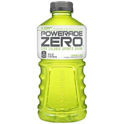 Powerade Sugar Lemon Lime, Ion4 Electrolyte Enhanced Fruit Flavored Sugar Calorie Sports Drink W/ Vitamins B3, B6, And B12, Replenish Sodium, Calcium, Potassium, Magnesium
