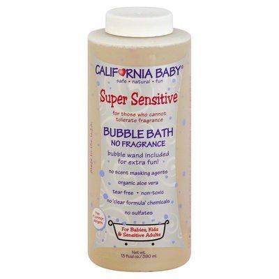 California Baby Bubble Bath, Super Sensitive, No Fragrance