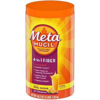 Metamucil , Psyllium Husk Powder Fiber Supplement, Plant Based