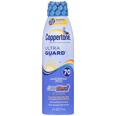 Coppertone UltraGuard AccuSpray Broad Spectrum SPF 70 Spray Sunscreen
