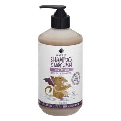 Alaffia Kids Shampoo & Body Wash,  Lemon Lavender