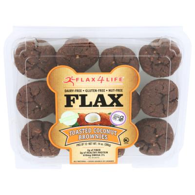 Flax4 Life Muffins, Flax, Toasted Coconut Brownie, Mini