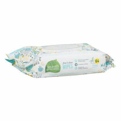 Seventh Generation Baby Wipes With Flip-top Dispenser Free & Clear