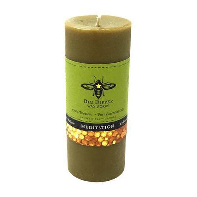 "Big Dipper Wax Works Meditation Pillar Candle 2"" x 4"""