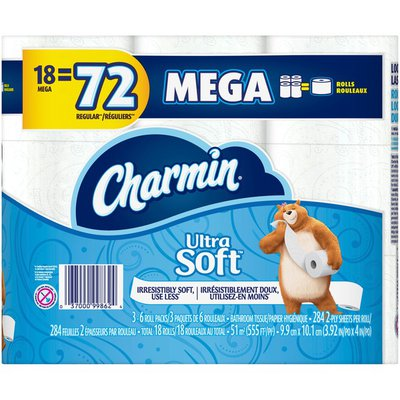 Charmin Ultra Soft Toilet Paper, Mega Roll