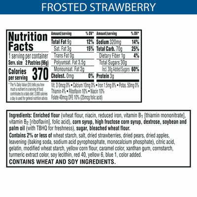 Kellogg's Pop-Tarts Toaster Pastries, Breakfast Foods, Frosted Strawberry