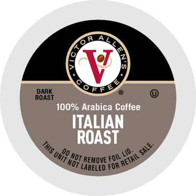 Victor Allen's Coffee Arabica Dark Roast Coffee Single Serve Coffee Pods