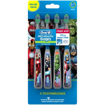 Oral-B Manual Pro-Health Stages Kids Manual Toothbrush featuring Marvel Avengers with Disney