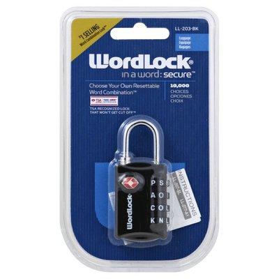 Word Lock Lock, Luggage, Resettable