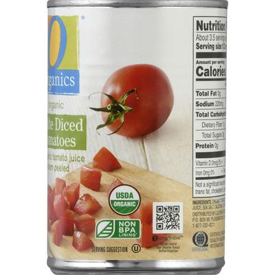 O Organics Diced Tomatoes, Petite, Steam Peeled