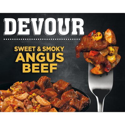Devour Sweet & Smoky Angus Beef with Southwest Style Corn Potato Hash Frozen Meal