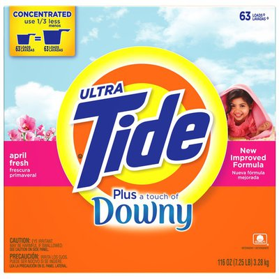 Tide Ultra Plus Touch of Downy Powder April Fresh Scent Laundry Detergent