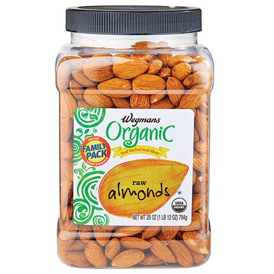 Wegmans Organic Food You Feel Good About Raw Almonds, FAMILY PACK