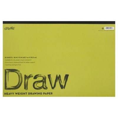 U Create Drawing Paper, Heavy Weight, 25 Sheets