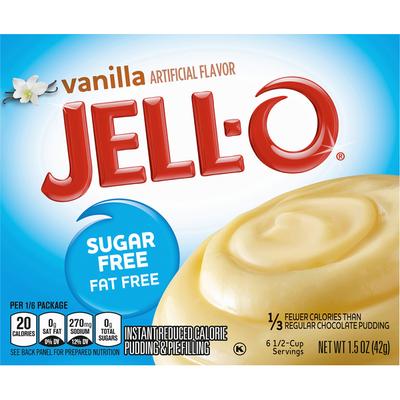 Jell-O Sugar Free Fat Free Vanilla Instant Pudding & Pie Filling Mix