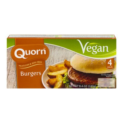 Quorn Meatless & Soy-Free Burgers - 4 PK
