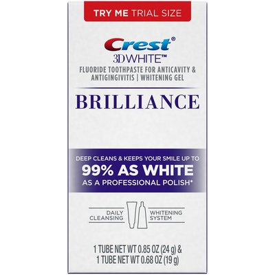 Crest 3D White Crest 3D White Brilliance Daily Cleansing Toothpaste and Whitening Gel System .85 and .68 oz Dentifrice