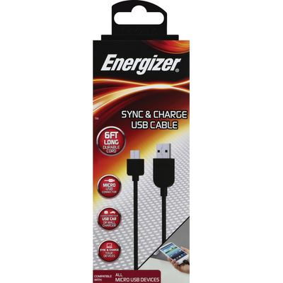 Energizer USB Cable, Sync & Charge