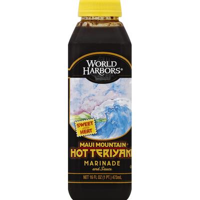 World Harbors Marinade and Sauce, Maui Mountain Hot Teriyaki