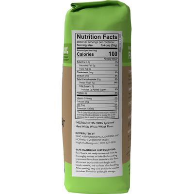 King Arthur Baking Company Sprouted Wheat Flour, 100% Whole Grain