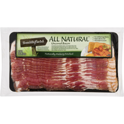 Smithfield All Natural Uncured Hickory Smoked Bacon