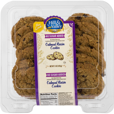 Hill & Valley No Sugar Added Oatmeal Raisin Cookies