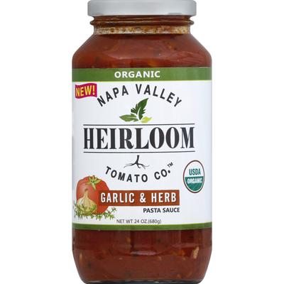 Napa Valley Heirloom Tomato Pasta Sauce, Garlic & Herb