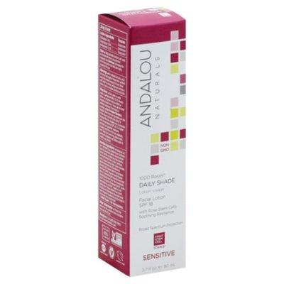 Andalou Naturals Facial Lotion, Daily Shade, 1000 Roses, Sensitive, with SPF 18