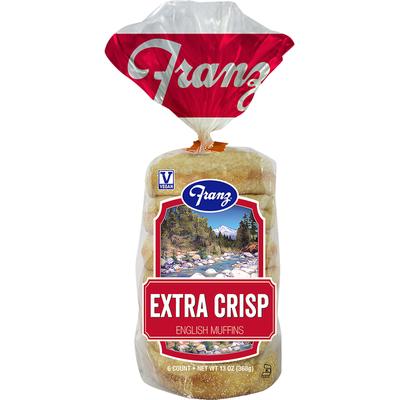 Franz English Muffins, Extra Crisp
