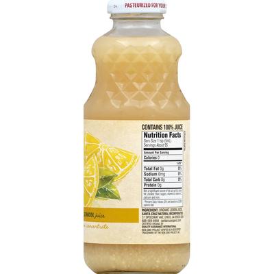 Santa Cruz Organic 100% Juice, Pure Lemon