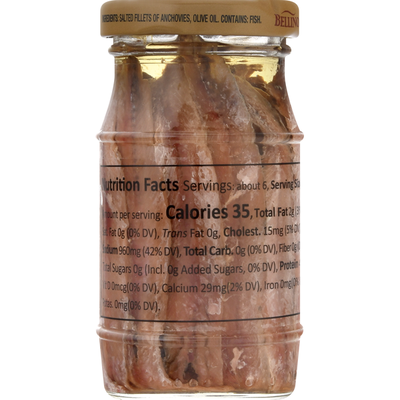 Bellino Anchovies, in Olive Oil, Flat Fillets