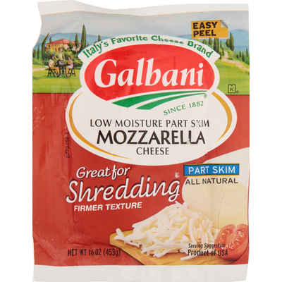 Galbani Galbani Part Skim Milk Low Moisture Mozzarella Cheese