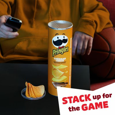 Pringles Potato Crisps Chips, Lunch Snacks, Snacks On The Go, Cheddar Cheese