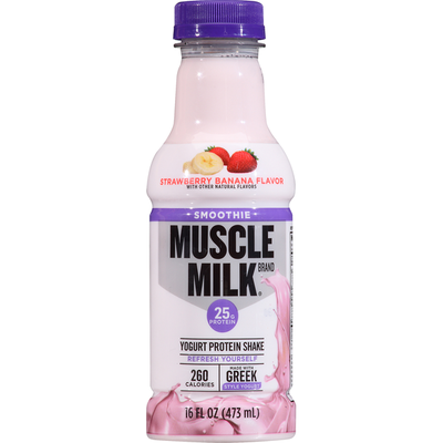 CytoSport Muscle Milk Protein Shake, Yogurt, Strawberry Banana Flavor