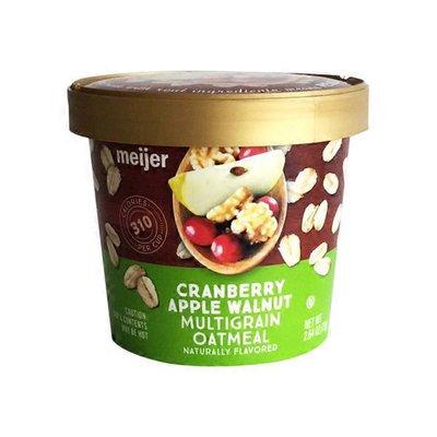 Meijer Instant Multigrain Cranberry Apple Walnut Oatmeal Cup