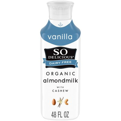 So Delicious Dairy Free Organic Vanilla Almondmilk with Cashew