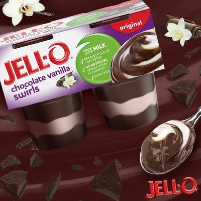 Jell-O Original Chocolate Vanilla Swirls Ready-to-Eat Pudding Cups Snack
