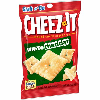 Cheez-It Baked Snack Cheese Crackers, White Cheddar