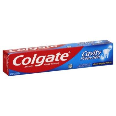 Colgate Fluoride Toothpaste, Anticavity, Great Regular Flavor
