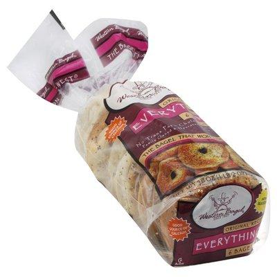 Western Bagel Bagels, Sliced, Everything