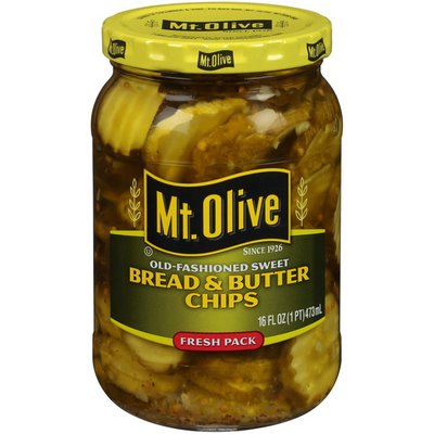 Mt. Olive Old-Fashioned Sweet Bread & Butter Chips Pickles