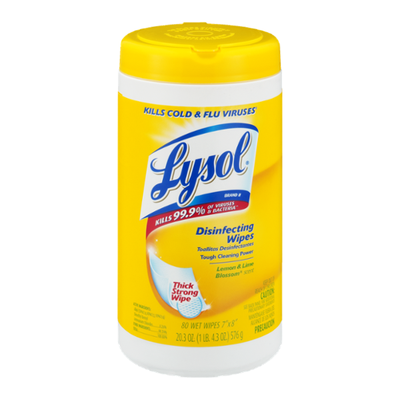Lysol Disinfecting Wipes, Lemon & Lime Blossom Scent