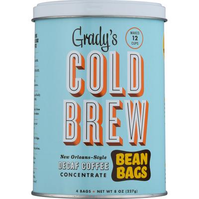 Grady's Coffee, Decaf, Cold Brew, Bean Bags