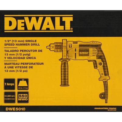 Dewalt Hammer Drill, Single Speed