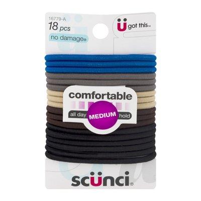 Scunci No Damage Comfortable Hair Bands Medium