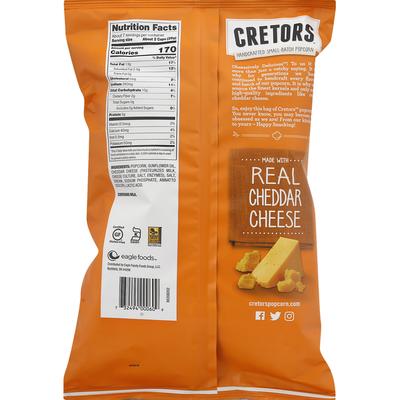 Cretors Flavored Popped Corn, Cheddar Cheese
