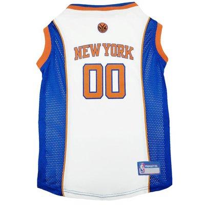 Pets First Large NBA New York Knicks Mesh Basketball Dog Jersey
