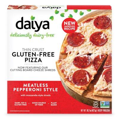 Daiya Dairy Free Meatless Pepperoni Gluten Free Pizza
